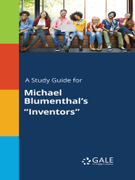"A Study Guide for Michael Blumenthal's ""Inventors"""