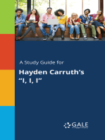 "A Study Guide for Hayden Carruth's ""I, I, I"""