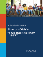 """A Study Guide for Sharon Olds's """"I Go Back to May 1937"""""""