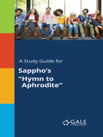 "A Study Guide for Sappho's ""Hymn to Aphrodite"""