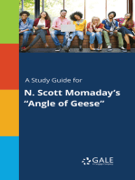 """A Study Guide for N. Scott Momaday's """"Angle of Geese"""""""