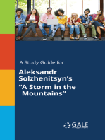 "A Study Guide for Aleksandr Solzhenitsyn's ""A Storm in the Mountains"""