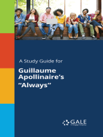 """A Study Guide for Guillaume Apollinaire's """"Always"""""""