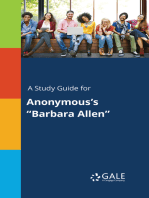 "A Study Guide for Anonymous's ""Barbara Allen"""