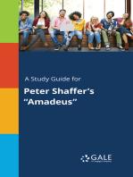 """A Study Guide for Peter Shaffer's """"Amadeus"""""""