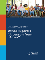 "A Study Guide for Athol Fugard's ""A Lesson from Aloes"""