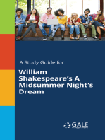A Study Guide for William Shakespeare's A Midsummer Night's Dream