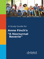 """A Study Guide for Anne Finch's """"A Nocturnal Reverie"""""""