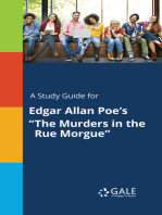 """A Study Guide for Edgar Allan Poe's """"The Murders in the Rue Morgue"""""""