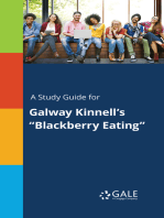 "A Study Guide for Galway Kinnell's ""Blackberry Eating"""