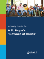 "A Study Guide for A D. Hope's ""Beware of Ruins"""