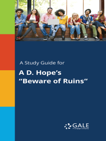 """A Study Guide for A D. Hope's """"Beware of Ruins"""""""