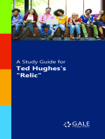 """A Study Guide for Ted Hughes's """"Relic"""""""