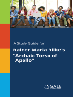 "A Study Guide for Rainer Maria Rilke's ""Archaic Torso of Apollo"""