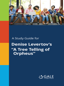 """A Study Guide for Denise Levertov's """"A Tree Telling of Orpheus"""""""