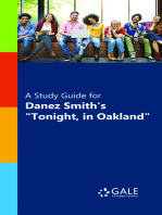 """A Study Guide for Danez Smith's """"Tonight, in Oakland"""""""