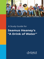 "A Study Guide for Seamus Heaney's ""A Drink of Water"""