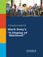 "A Study Guide for Mark Doty's ""A Display of Mackerel"""