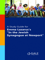 "A Study Guide for Emma Lazarus's ""In the Jewish Synagogue at Newport"""
