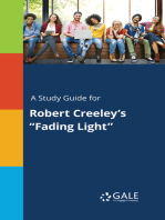 """A Study Guide for Robert Creeley's """"Fading Light"""""""