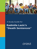 "A Study Guide for Radmila Lazic's ""Death Sentences"""