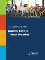 "A Study Guide for James Tate's ""Dear Reader"""