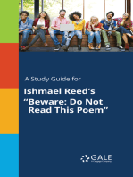 """A Study Guide for Ishmael Reed's """"Beware"""