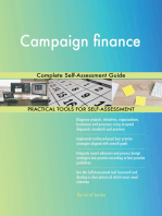 Campaign finance Complete Self-Assessment Guide