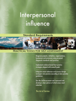 Interpersonal influence Standard Requirements