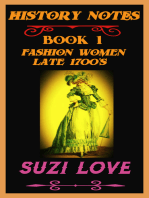 Fashion Women Late 1700s History Notes Book 1