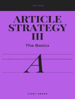 Article Strategy III