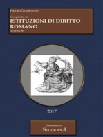 Compendio di ISTITUZIONI DI DIRITTO ROMANO
