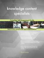 knowledge content specialists Complete Self-Assessment Guide