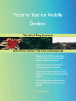 Voice to Text on Mobile Devices Standard Requirements
