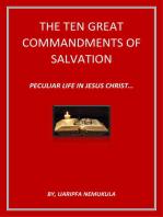Ten Great Commandments Of Salvation