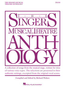 Singer's Musical Theatre Anthology Trios: Book Only