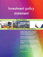 Investment policy statement Second Edition