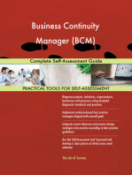 Business Continuity Manager (BCM) Complete Self-Assessment Guide