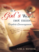 It's God's Word, Not Mine...