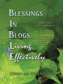 Blessings in Blogs: Living Effectively