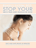 Stop Your Neck Pain and Headache Now