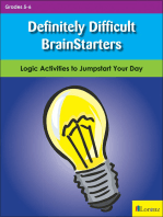 Definitely Difficult BrainStarters
