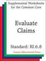 Evaluate Claims (CCSS RI.6.8)