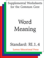 Word Meaning (CCSS RI.1.4)