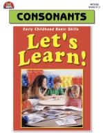 Let's Learn! Consonants