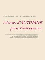 Menus d'automne pour l'ostéoporose