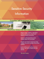 Sensitive Security Information Complete Self-Assessment Guide
