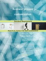 Business process customization Standard Requirements