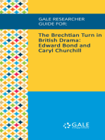 Gale Researcher Guide for: The Brechtian Turn in British Drama: Edward Bond and Caryl Churchill