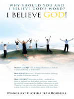 Why Should You and I Believe God'S Word?: I Believe God!